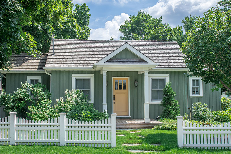 small vintage cottage style home